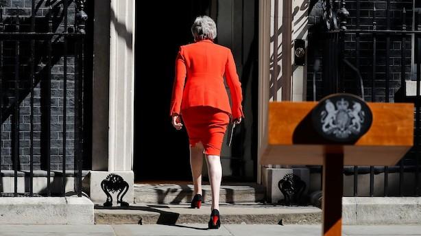 Gennem hele sin tid som premierminister ofrede Theresa May sig for partiets splittede fløje - fredag ofrede partiet så Theresa May