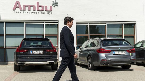 """Rekordbevægelser i Ambu-aktien efter nedjusteringer og fyring: """"Der er stadig enorm usikkerhed i Ambu"""""""