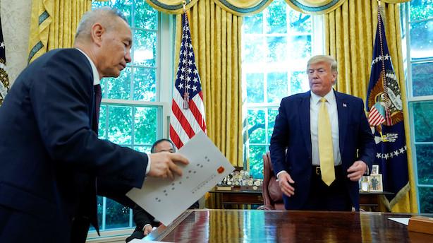 """Kortvarig investorjubel over Trumps lille aftale: """"Ingen åbenlys vej til en fase to"""""""