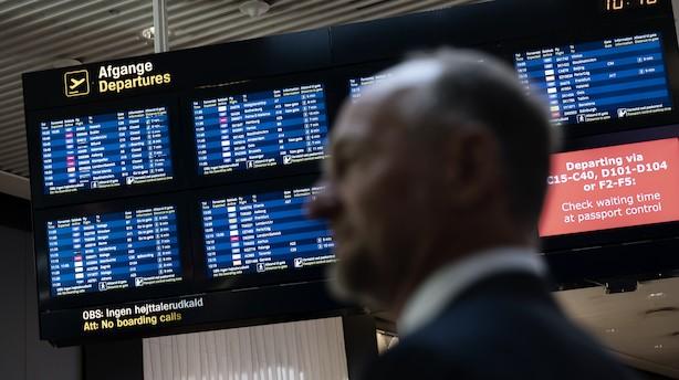 """Færre passagerer gennem lufthavn med vokseværk: """"Det er ikke tilfredsstillende"""""""