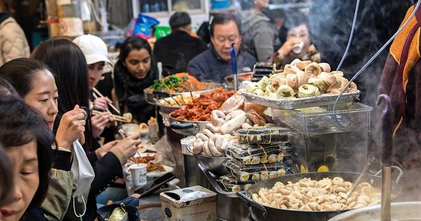 I foodie-himlen i Seoul