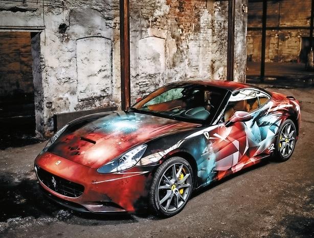 Ferrari-kunstværk på dansk visit